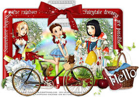 PinUp Toons - Fairy Tale Hello by CreativeDesignOutlet