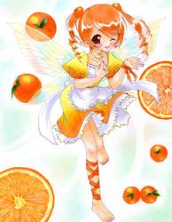 Orange Fairy by tickledpinky