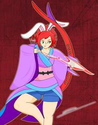 Yumi, The Skilled Archer (Secret Santa Commission) by XenoGenicOfficial