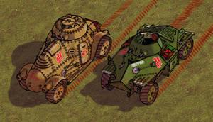 Marbanian Armoured Cars DETAIL by wingsofwrath