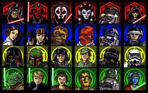 Star Wars game pieces by wingsofwrath