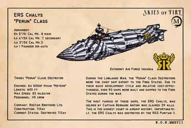 Perun Class Destroyer by wingsofwrath