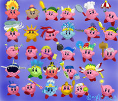 Kirby Tranformations by clariecandy