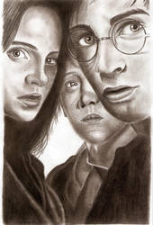 Hermione, Ron and Harry - POA by Eileen9