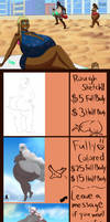 New Commission sheet (W/ some Puffy doodles. XD) by TigGemini