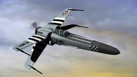 WW II X Wing Fighter by archangel72367