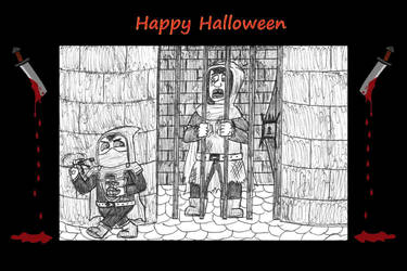 Sneaky + Dillie - Halloween special by Dwarf-Cartoonist