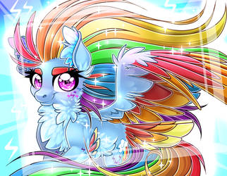 Rainbow Powered Rainbow Dash by Schokocream
