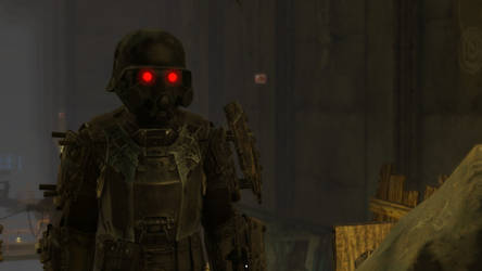 Fallout 4 - cybernetic Kerberos Death Trooper by PlutoSkybase