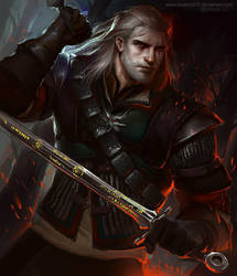 Geralt in Wolven gear by bluemist72