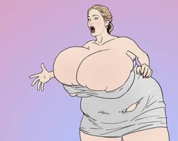 Jennifer Lawrence's Fat Tits by tsarman