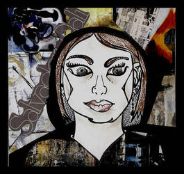 An abstract self portrait by Shawana