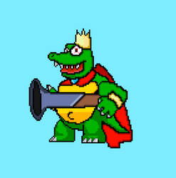 King K Rool sprite WIP weapon hold preview by Mazznick