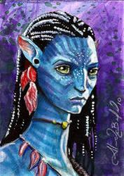 Avatar Neytiri Sketch Card by AlexBuechel