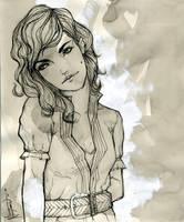 Girl Ink wash 2 by VietNguyen