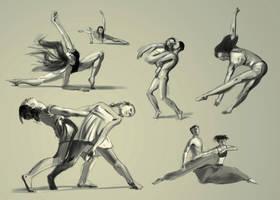 Dance studies by Theclockworkpainter