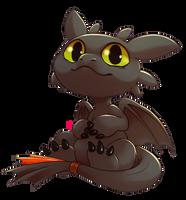 Chibi Toothless by Aishishi