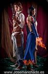Albus and Shanoa by Nebulaluben
