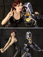 Tali and Shepard besties by Nebulaluben