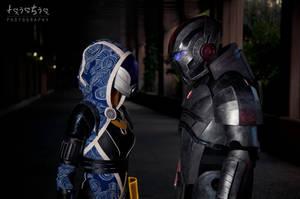 Tali and Shepard by Nebulaluben