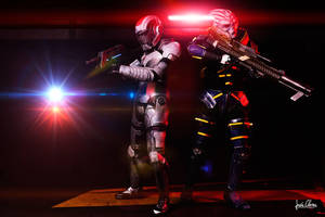 Shepard and Garrus by Nebulaluben
