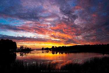Burning clouds by Wiku2707