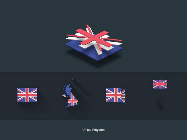 Flat Flags UK by capdevil13