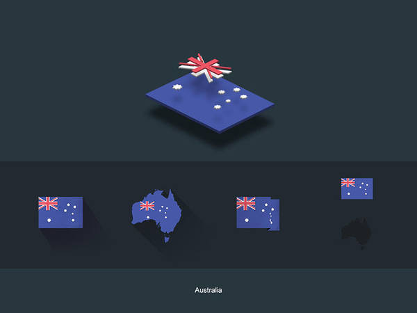 FlatFlags Australia by capdevil13