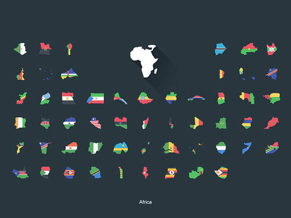 Flat Flags Africa by capdevil13