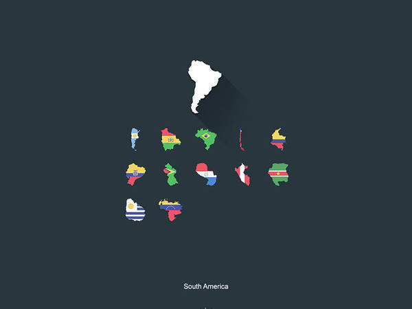 Flat Flags South America by capdevil13
