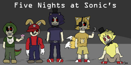 Five Nights at Sonic's (concept) by MarcosVargas