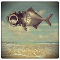 diver fish by beyzayildirim77
