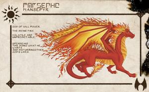 Solar Pantheon - Mansepyr Dragon by Kiaraofpacera