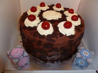 Portal Ending Cake by Rebeckington