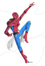 Spidey Commission for Sass41 by DrenchedinMoonlite