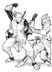 Cocodrille VS Hawk by shinkatana