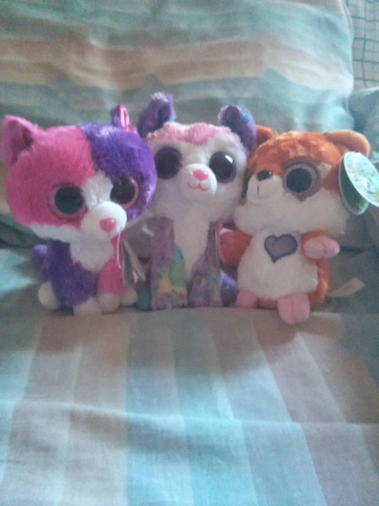 New Beanie Boos and a friend by DreamNotePrincess
