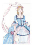 another Marie Antoinette by DrawnSeawards