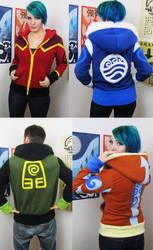 Elemental handmade hoodies by Lisa-Lou-Who