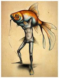 Goldfish Guy by f0xyme