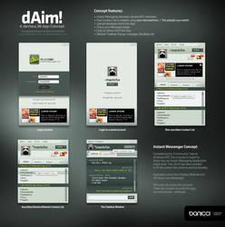 dAim Concept - devious IM App by mauricioestrella