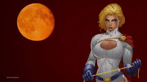 PowerGirl Orange Moon wallpaper by Curtdawg53