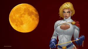 PowerGirl Yellow Moon wallpaper by Curtdawg53