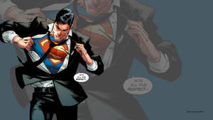 Superman Getting Ready For Action Wallpaper by Curtdawg53