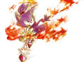Blaze the cat by yu-jin00