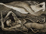 mechanical merman and drowned woman by HusoHuso