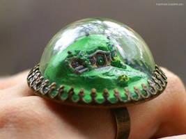 Tiny Hobbit Hole by Flocature