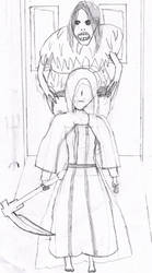 Father Ariandel and Sister Freide (bad art style) by Kr1tical