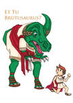 Brutusaurus Colour by LisaGunnIllustration