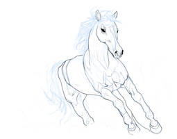 Horse in Line by LisaGunnIllustration